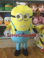 Wholesale Lovely Hair Minions Despicable Me mascot costume Hot Sale dress Popular Film carnival New Professional custom made