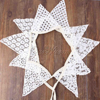 Wholesale Vintage M White Cotton Lace Flags Bunting Pennant Banner for Wedding Holiday Party Decoration Supplies SJQ