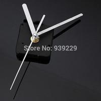 Wholesale White Hands DIY Quartz Black Wall Clock Movement Mechanism Repair Parts Silent