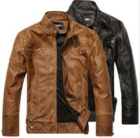 Wholesale 2015 new arrive brand motorcycle leather jackets men s fleece jacket jaqueta de couro masculina mens leather jackets