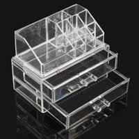 acrylic mail holder - Acrylic Cosmetic Organizer Drawer Makeup Case Storage Insert Holder Box DHL EMS FeDex Mail PTSP