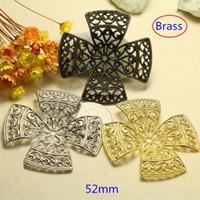 Wholesale Brass Filigree Flower Petal Setting Bead Caps Big Size mm Ornate Jewelry Findings