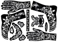 Wholesale attoo Body Art Tattoo Stencils Large Henna Tattoo Stencils cm For Painting Kit Temporary Mehndi Template Stencil Indian Henna