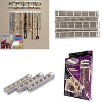 Wholesale Jewelry Display Organizer jewelry Holder storage hook combination sticky hooks Adhesive hooks Wall Mount stickers set