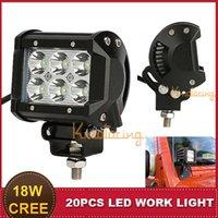 Cheap 4 Inch CREE 18W LED Work Light Bar Spot Beam Motorcycle Auto SUV ATV AWD 4X4 Trailer Truck UTE Boat Headlight Bumper Fog Lamp