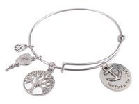 american sink - 1PCS Expandable Wire Bangle Refuse to sink Charm Bracelet