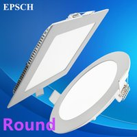 Wholesale Round panel Ultra thin Design W W W W W W W W LED Ceiling Recessed Grid Downlight Slim Round Flat Panel Light