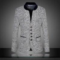 blazer jacket men - High Quality New Arrival Chinese Blazer Men Stand Collar Men s Suit Jacket Fashion Blazer For Men Slim Fit Jacket Plus Size XL XL