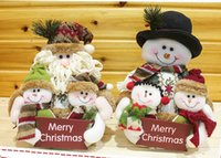 inflatable christmas - 27 cm high Quality Snowily Christmas Decoration Christmas Tree Hangings Doll Products Inflatable Santa Claus snowman family T6029