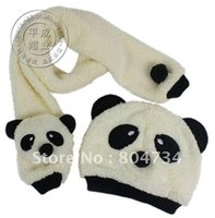 Wholesale The pandas children hat scarf kit