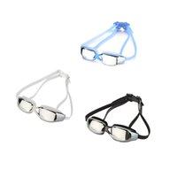al por mayor tapones para los oídos de la correa-Gafas de natación unisex venta caliente anti-niebla escudo de protección UV gafas de natación gafas de natación con tapones de oído doble cabeza correas