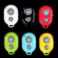 Wholesale Bluetooth Remote Camera Control Self timer Shutter for IOS and Android phones for iPhone Samsung Galaxy S4 Note3 Smartphones and Tablet