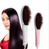 Wholesale Beautiful Star NASV FAST Hair Straightener brush Straight Styling Tool Flat Iron Electronic Temperature Controls US AU EU UK Plug DHL Free