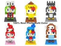 Wholesale LOZ Diamond Building Toy Blocks Hello Kitty Toys Animal Series Cute Anime Figures Models Hobbies