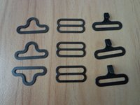 Wholesale Sets Adjustable Black Bowtie Buckles Garment Accessories Metal Bow Tie Clips Bow Tie Hook Eye Slide