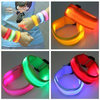 adult arm bands - DHL Fedex Free outdoor led glow arm band flash led wrist straps safety product for adults led collar kids in sports