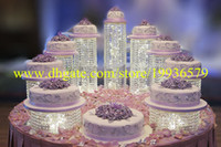 crystal decoration - Sparkling Crystal clear garland chandelier wedding cake stand birthday party supplies decorations for table top centerpieces