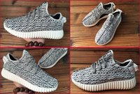 Wholesale 5 Colours With Box New High Quality Kanye West Yeezy Boost Men s Fashion Sneaker Shoes