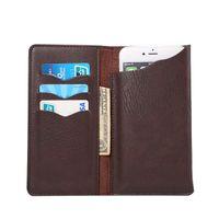 al por mayor xperia j leather-GRATIS SHIIPPING tarjeta PU universal Monedero de cuero del teléfono móvil bolsa del caso para Sony Xperia J st26i ST26A, Xperia acro S lt26w, Xperia M c1904