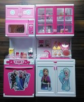 Wholesale Frozen Kitchen Mold Suit Anna Elsa Modern Kitchen Suit Girl Boy Toys Pretend Play Toys Children s Birthday Gift