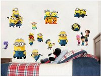 Wholesale Despicable Me Minion wallpapers cm Removable d wallpaper for kids wallpaper for walls glasses wall paper d vintage wallpaper