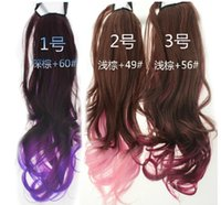 Wholesale Human Hair Ombre Anime Wig Hair Full Lace Wigs Curly pieces Cheap Human Hair Extensions Clip In Hair Party Extensions A348
