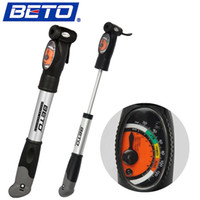 Wholesale Mini Portable Aluminium Alloy Cycling Bicycle Pump Bike Tire Inflator Air Pump with Pressure Gauge Bracket BETO CMP