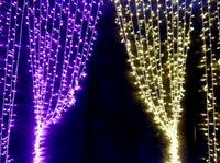 Wholesale Hot V V M Bulbs LED Xmas Curtain Backdrop Lights sizes colors HK Post Free drop shipping