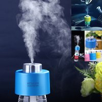 Wholesale USB Portable Mini Ultrasonic Humidifier Air DC V Office Aroma Diffuser Aroma Mist Maker Essential Oil Diffuser Mist Maker