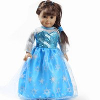 beautiful rope - hot High quality fashion beautiful elsa inch american doll clothes girl dolls clothing accessories DD004