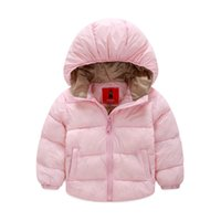Wholesale Retail New winter girl coat cotton padded jacket Kids winter duck down cotton jacket Fast delivery ls18