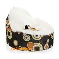 Wholesale baby bean bag chair with harness kids bean bag baby bean bag RETRO BALLS CREAM SEAT