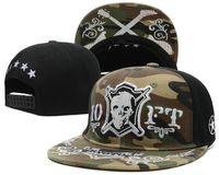 Wholesale hunting baseball caps for men snapback hats Military green hiphop skull design caps adjustable breathable running man training gym caps