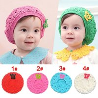 beret for baby - The Newest Handmade Crochet Baby Hat Baby Knitted Beret For Months Mix Colors