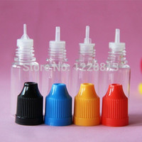 Wholesale 4000pc lot10ml dropper bottle PET clear bottle with white cap cap bottle childproof cap bottle ego e liquid bottle cheap price