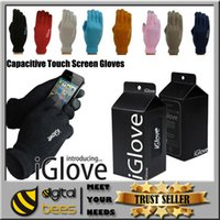 Wholesale Christmas IGlove Screen Touch Gloves i gloves Man Women Capacitive Gloves With Retail Box Unisex Winter for Iphone s Plus Phone Touch Glove