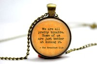 american breakfast - 10pcs Breakfast Club quot We are all pretty bizarre quot Necklace Glass Photo Cabochon Necklace