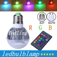 Bombilla LED 2015 nueva llegada LED RGB Spotlight E27 E26 GU10 9W CA 85-265V RGB LED de la lámpara con control remoto de múltiples colores CE