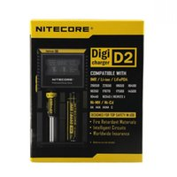 Wholesale NITECORE D2 Digicharger Intelligent LCD Display Universal Smart Charger for IMR Li ion Ni MH Ni Cd Rechargeable Batteries for Retail Orders