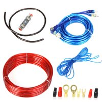 Cheap Universal 1500W Car Audio Wire Wiring Amplifier Subwoofer Speaker Installation Kit 10GA Power Cable 60 AMP Fuse Holder