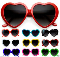 PC accessories black dress - Brand new Heart Lolita Love Vintage Retro Sunglasses Fancy dress Women Men children Party Fashion Accessories grey lens candy colors