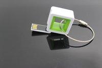 Wholesale Square USB Flash Drives USB2 Plastic USB Flash Drives four colors