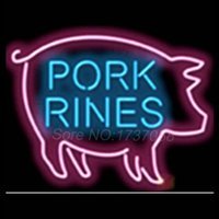 barbeque lights - Pork Rinds Barbecue Barbeque Signage Neon Light Sign Display Club Denverr Nests Jersey Gorrass Real Glass Tube