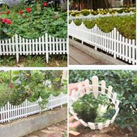 Wholesale Plastic Fences White Railing Fences European Country style Insert Ground For Garden Courtyard Decor Easily Assembled X33CM
