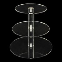 big cupcake - 2015 Big Size Tier Crystal Clear Circle Acrylic Round Cupcake Stand for Wedding Party Cake Display Decoration