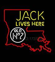 beer louisiana - Jack Lives Here Louisiana Neon Sign Handicraft Cowboys Niike Jordaan Neon Real GlassTube Beer Commercial Neon Sign Gifts