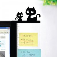 Wholesale Korea cartoon stationery wallstory computer monitors message boards sticky side plate Cat cm