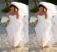 Cheap DN Hot New Megan Fox Gorgeous Sweetheart Empire Chiffon Wedding Dress Simple Beach Bridal Gowns For Maternity Women Fall Bridal Gowns