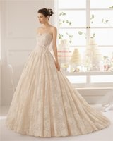 Wholesale 2015 Aire Barcelona Sweetheart Lace Wedding Dresses Backless Applique Crystal Handmade Ivory White Sweep Train Ballgown Bridal Dresses