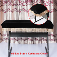 Wholesale Piano Accessories Piano Keyboard Cover Pleuche Decorated with Fringes Beautiful for key Electronic Piano Top Quality I617